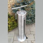 Rozsdamentes szálcsiszolt köztéri kerékpár pumpa